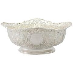Victorian English Sterling Silver Presentation Bowl