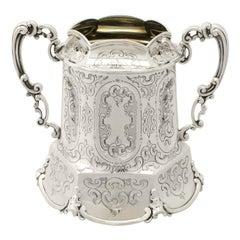 Victorian English Sterling Silver Sugar Bowl