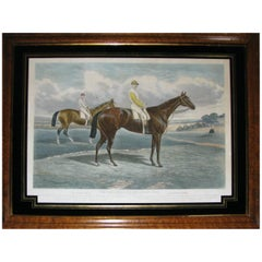 Victorian Equestrian Racing Print, The Dead Heat for the Derby