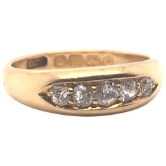 Victorian Era Hallmarked Diamond Band