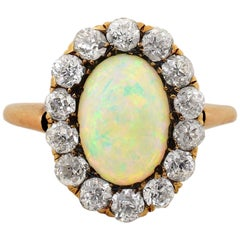 Victorian Era Opal Diamond Gold Ring