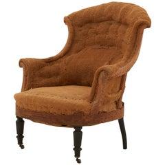 Napoleon III Unupholstered Burlap Armchair