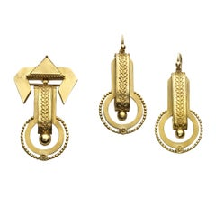 Victorian Etruscan Style Gold Suite