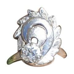 Victorian European Diamond Ring, .75 Carat VS G Quality