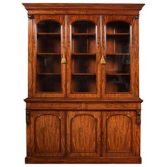 Victorian Figured Mahogany Library Bookcase