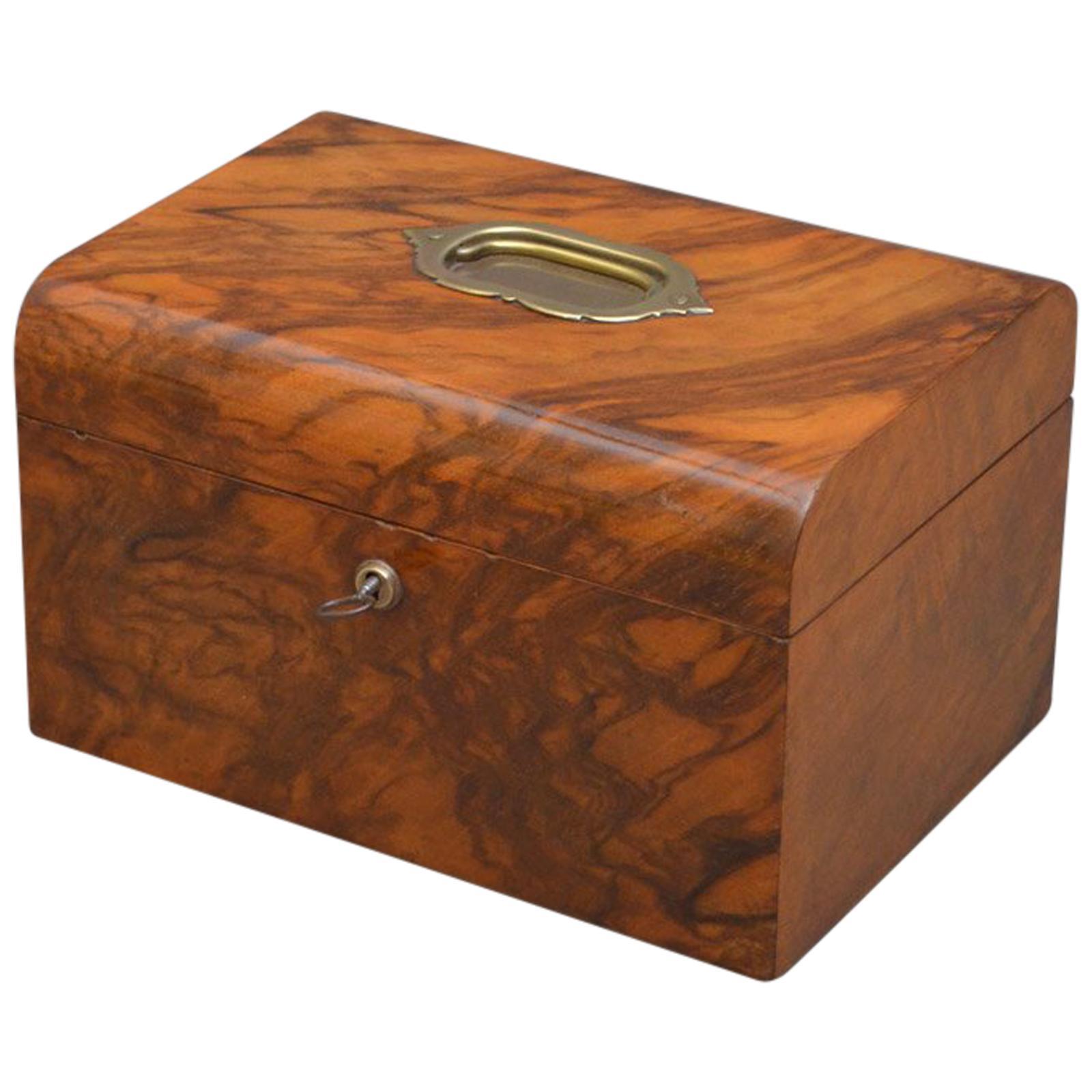 Victorian Figured Walnut Jewellery Box