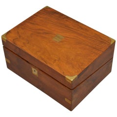 Victorian Figured Walnut Writing Box