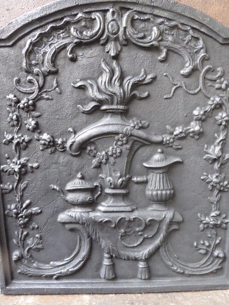 20th Century Victorian 'Fire Pot' Fireback For Sale