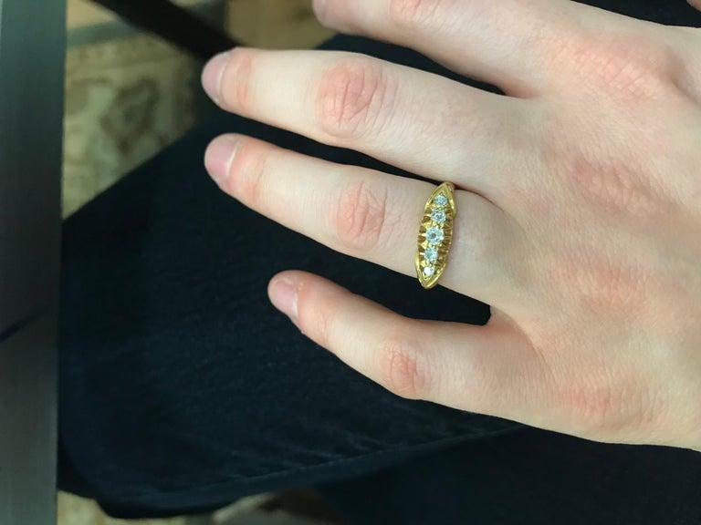 Victorian Five-Stone Diamond Ring, circa 1900s For Sale 1