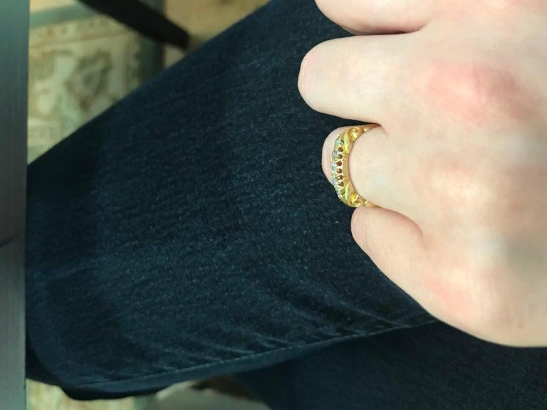 Victorian Five-Stone Diamond Ring, circa 1900s For Sale 2