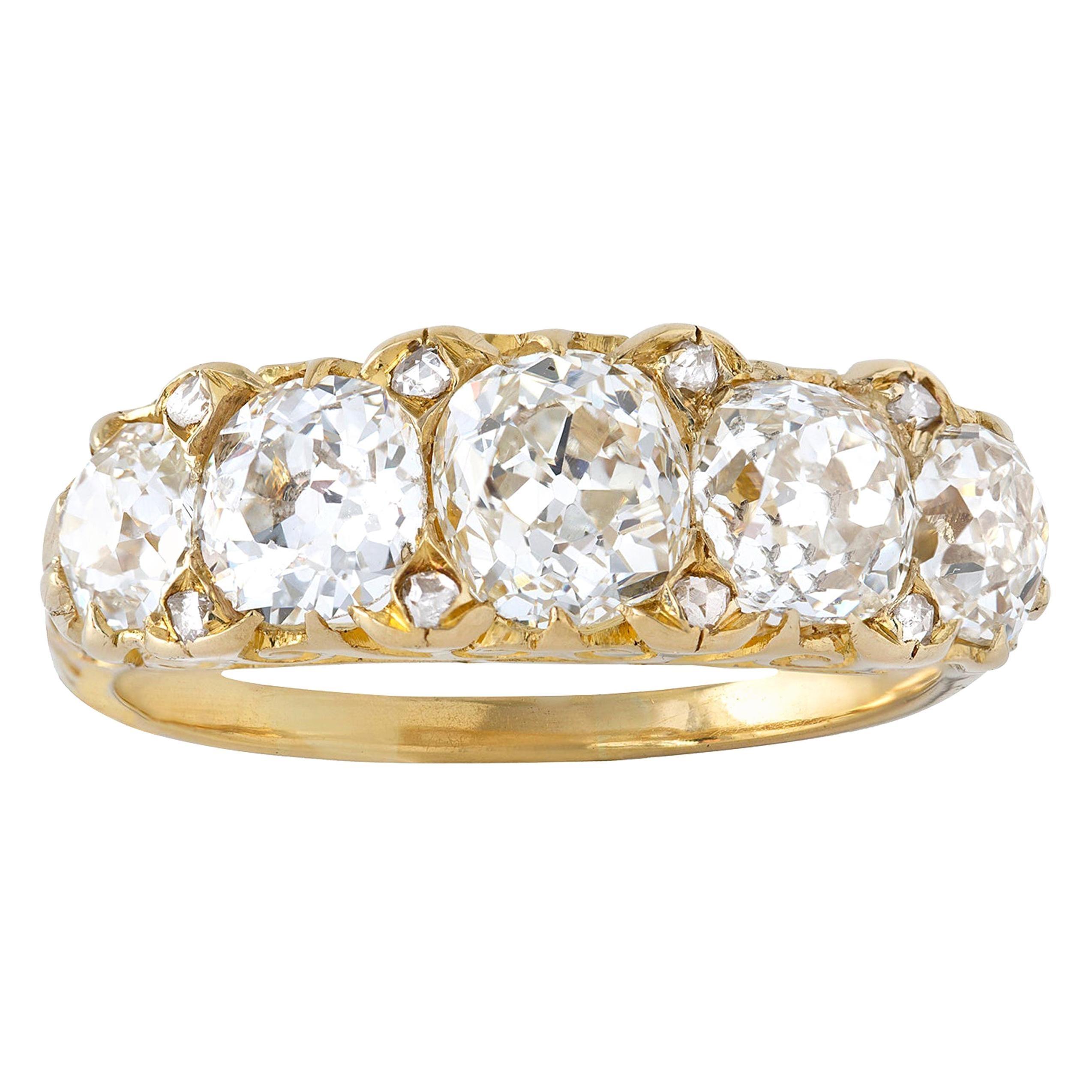 Victorian Five-Stone Diamond Ring