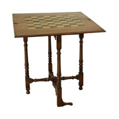 Victorian Folding Chess and Draughts Table