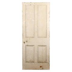 Victorian Four Beaded Panel Pine Door, 20th Century