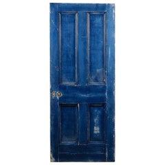 Victorian Four Panel Pine Interior Door, 20th Century