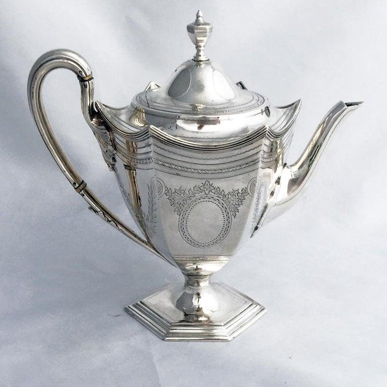 Late 19th Century Victorian Four-Piece Tea Set For Sale