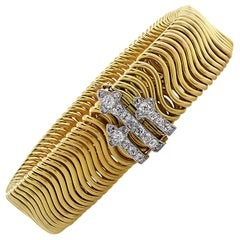 Victorian French Diamond Bangle, circa 1880