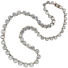 Victorian French Paste Riviera Necklace