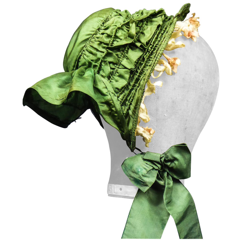 Victorian French Silk Cap Capote for Doll/child Circa 1860
