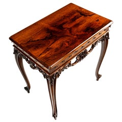 Victorian French Style Center Table in Rosewood