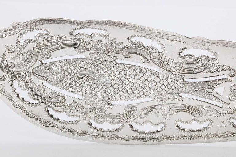 Victorian French Tiffany & Co. Sterling Silver Fish Slice For Sale 1