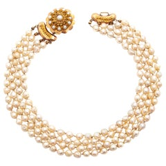 Dutch 19th Century 14 Karat Gold Pearl Necklace