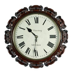 Victorian Fusee Wall Clock, 19th Century