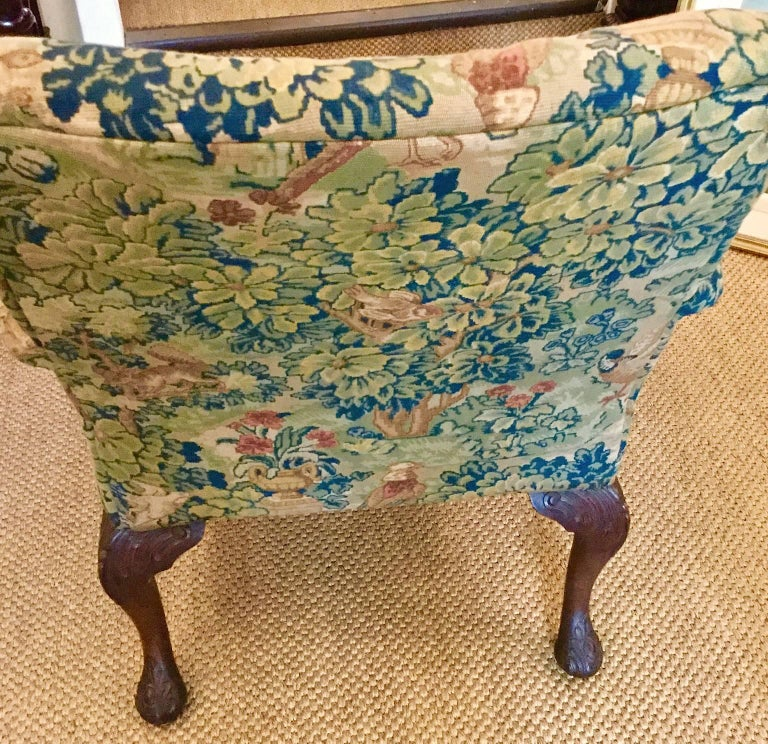 Victorian 'Gainsborough Style' Mahogany Framed Tapestry Armchair, circa 1860 For Sale 7