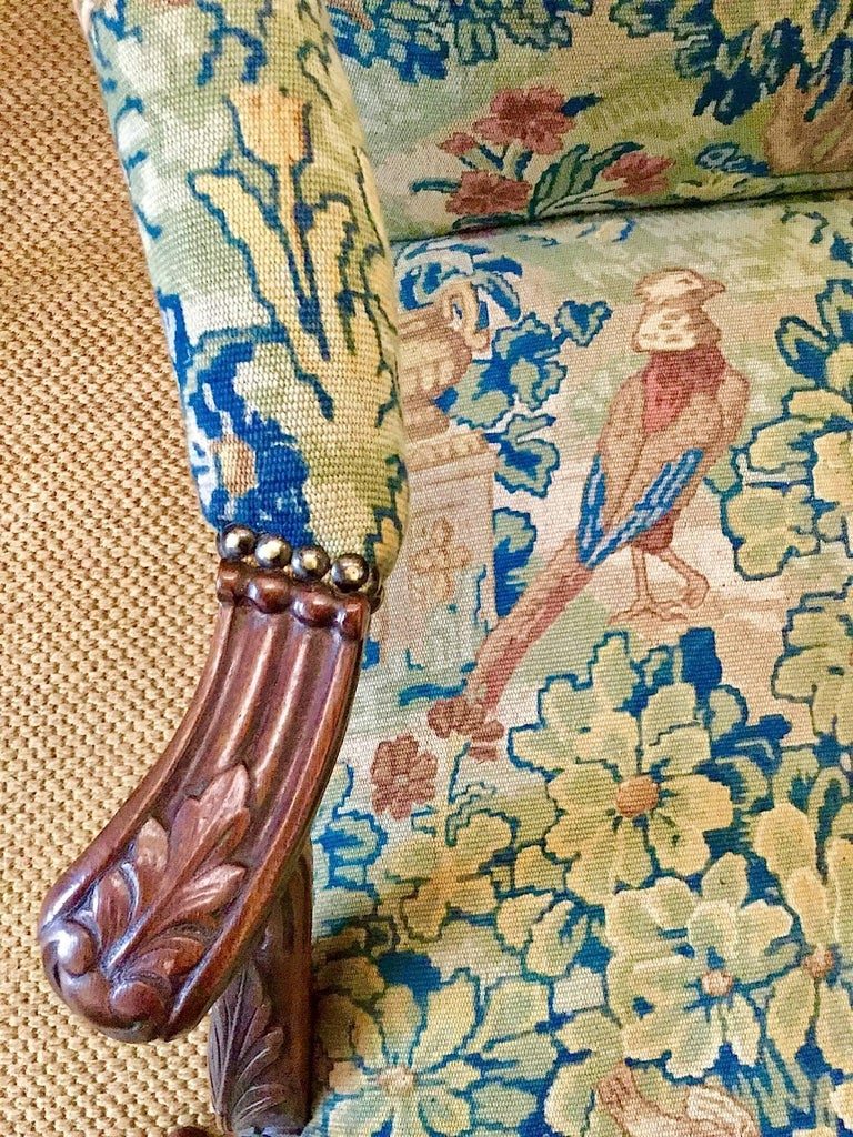 Victorian 'Gainsborough Style' Mahogany Framed Tapestry Armchair, circa 1860 For Sale 2