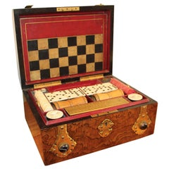 Victorian Game Set-Chess,Checkers, Backgammon, Dominoes and Cards