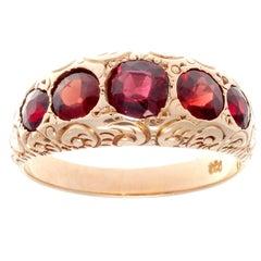 Victorian Garnet Gold Ring