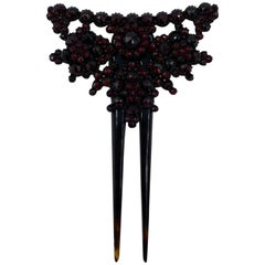 Victorian Garnet Hair Ornament