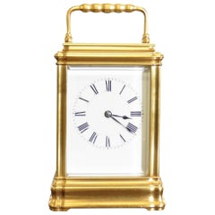 Victorian Gilded Carriage Clock