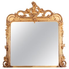 Victorian Giltwood and Composition Wall Mirror by Charles Nosotti, London