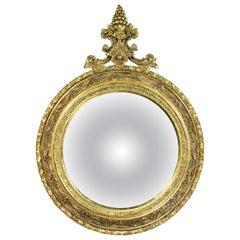 Victorian Giltwood Convex Mirror