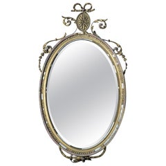 Victorian Giltwood & Gesso Oval Wall Mirror, c.1860-70