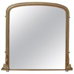 Victorian Giltwood Overmatel Mirror