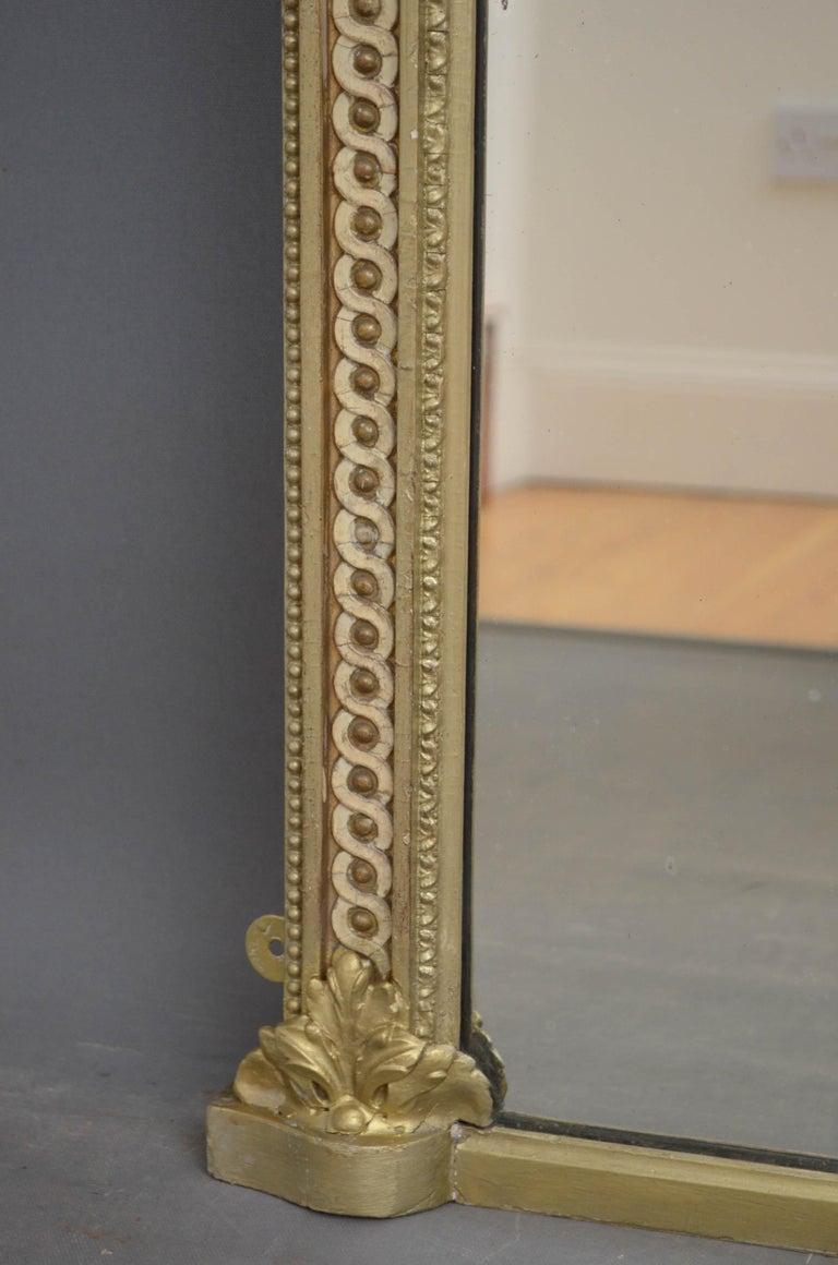 British Victorian Giltwood Pier Mirror For Sale