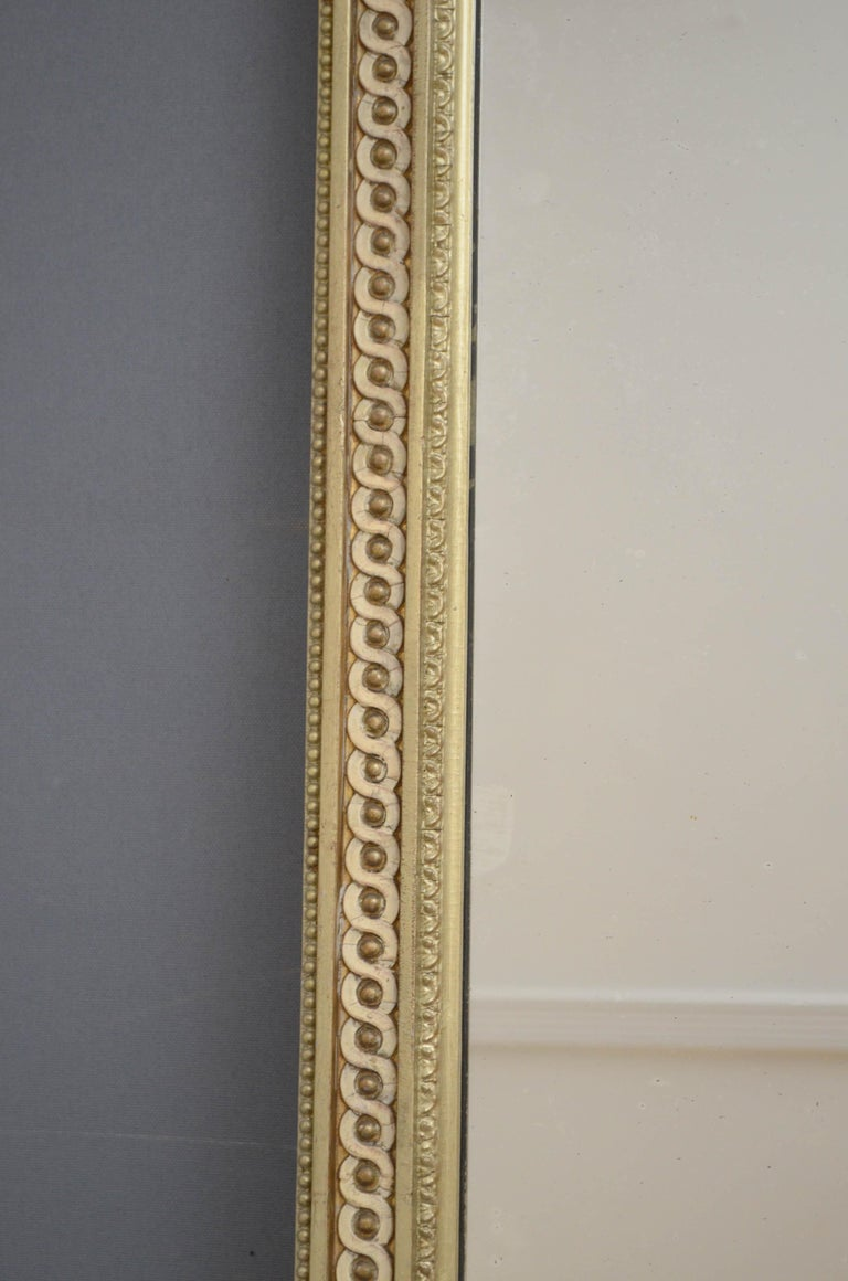 Victorian Giltwood Pier Mirror In Good Condition For Sale In Whaley Bridge, GB