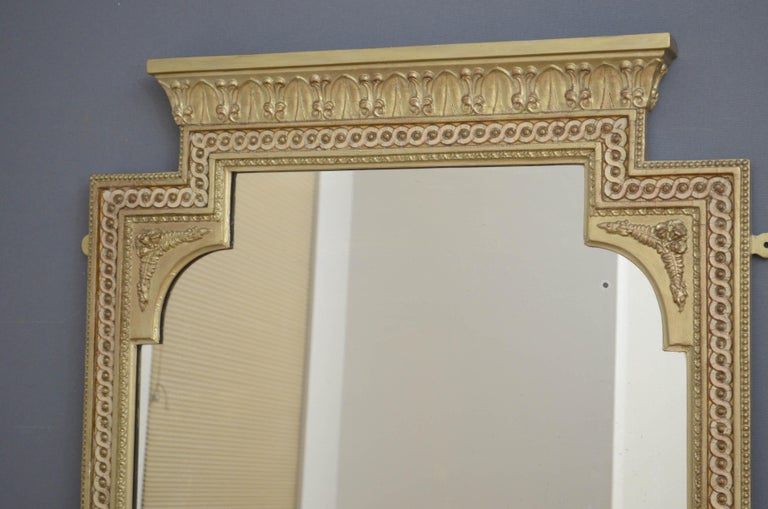 Paint Victorian Giltwood Pier Mirror For Sale