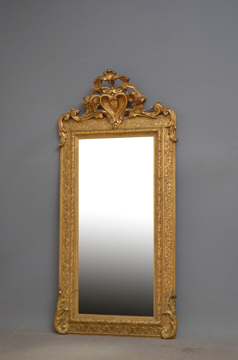 Victorian Giltwood Pier Mirror For Sale 2