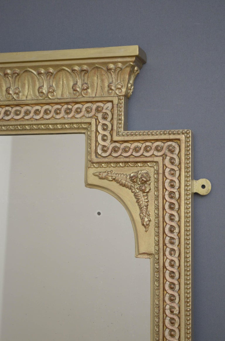 Victorian Giltwood Pier Mirror For Sale 1
