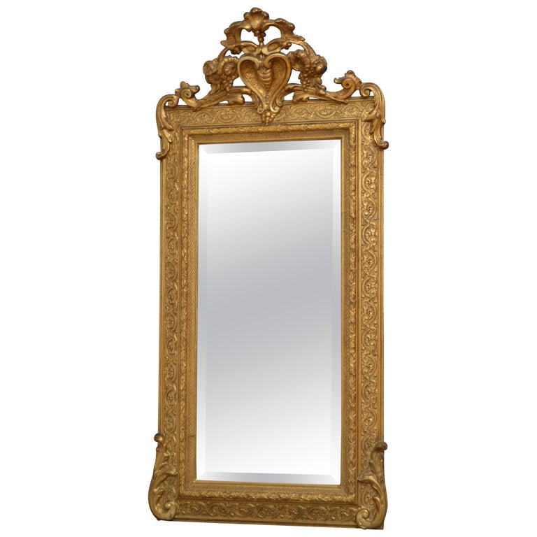Victorian Giltwood Pier Mirror For Sale