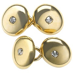 Victorian Gold and Diamond Cufflinks