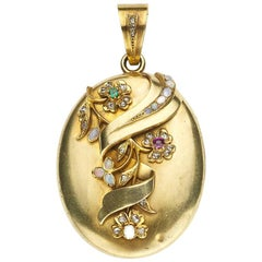 Victorian Gold and Gem Set Locket