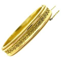 Victorian Gold Bangle Bracelet