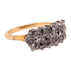 Victorian Gold Cocktail 1.75 Carat Ring Natural Old European Diamond, circa 1910