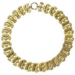 Victorian Gold Collar Necklace, circa 1875