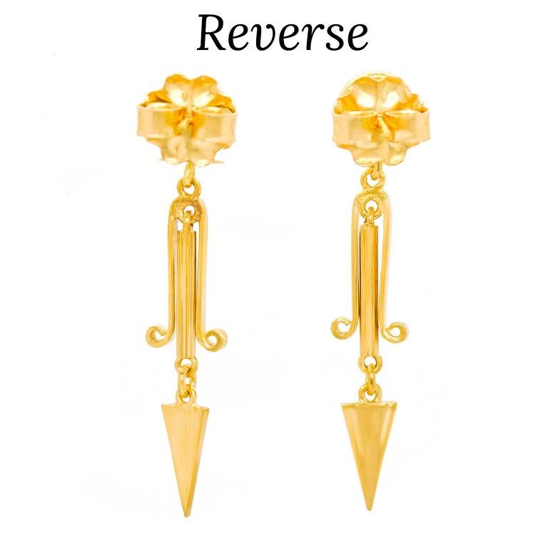 Victorian Gold Dangle Earrings For Sale 3