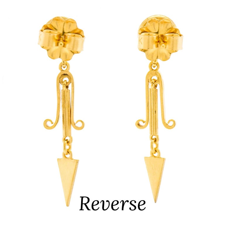 Victorian Gold Dangle Earrings 3