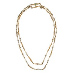 Victorian Gold Fancy Link Long Necklace